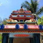 The temple sky