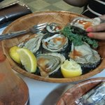 Fresh oyster sampler