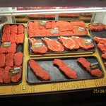 Selection of steaks