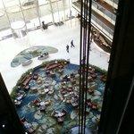 Vista desde uno de los ascensores!