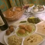 Mezza platter - room service