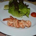 shrimp cocktail at the steakhouse
