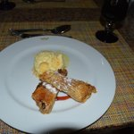 apple strudel at the steakhouse