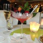 Champagne e frutas