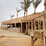 The fish restaraunt and beach bar