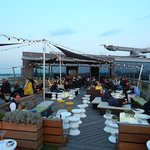 Outside seating area at the sky lounge
