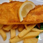 Haddock, Chips & Peas - a very good meal
