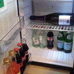 Exceptionally well stocked mini bar with complimentary soft drinks