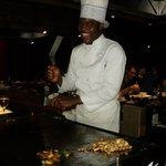Hillarious chef at the Samaria Room