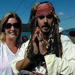 Pirata no passeio de escuna