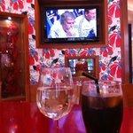 TV in bar area