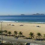 vista da praia de ipanema da sacada do apto