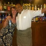 Wifey with Roberth - Bartender Extraordinaire at the Beach Bar