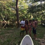 Fun day stand up paddle boarding