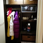 Closet space - couldn't hang out clothes