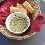 Dried artichoke dip we had to share with other party