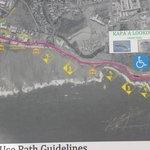 part map of costal bike path