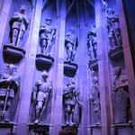 Hogwarts statues