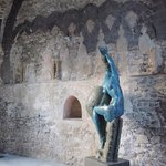Sculpture at entrap to Villa Rufolo