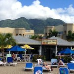 the beachside Yachtsman Grill & Hamilton Beach Villas in Nevis, West Indies
