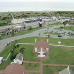 The view of the grounds & beach from Tybee Lighthouse