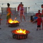 Beach side s'mores nightly for the kids