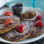 Almond pancakes at Solana for breakfast
