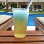 The 'Heisenberg'- beer w/ a dollop of blue margarita on top