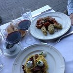 goat cheese pasta and osso bucco