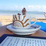 morning cappucino on beach!