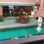 swimming pool and the bar