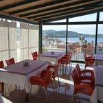 Dachterrasse-Frühstücksraum...