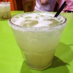 Great margaritas with fresh lime juice
