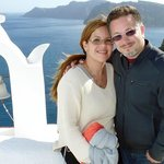 Me with my husband at Santorini
