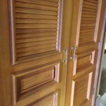 Not luxurious or high-quality; these doors are circa Miami 1985