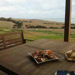 Lunch on arrival - what a view