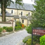 The famous Abbaye is just across the street, a special place as well!