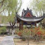 中衛高廟的庭院