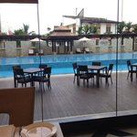 Pool view from Cerana Coffee House