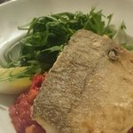Hake on a chorizo and chickpea cassoulet