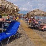 Menia Beach på morgonen.