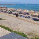 Menia Beach sett från hotellet.