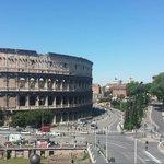 magnífica vista desde el restaurante Aroma en el hotel palazzo manfredi. La mejor en roma