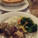 Pot pie and filet from fixed price menu