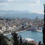 Blick auf Promenade Split