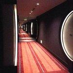 Hotel room corridor