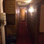 Koala corridor to lower level dining room