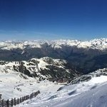 view from tne Aguille Rouge looking to La Rosiere and beyond