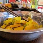 Mr Son, Hoi An - Cooking sautéed pumpkin
