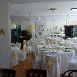 salle décorée pour notre mariage